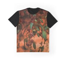 Red Berries on Tree at Sunset In Fall Graphic T-Shirt
