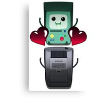 BMO and Game Boy's Love Canvas Print