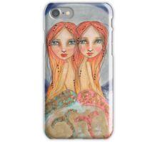 Mermaid twins iPhone Case/Skin