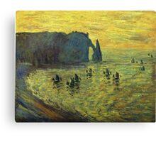 Claude Monet - The Cliffs At Etretat 1886 Canvas Print