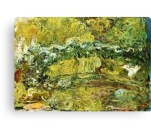 Claude Monet - The Japanese Bridge  Canvas Print