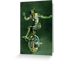 The French Olympian Trick Cyclist  Greeting Card