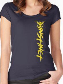 Pokemon Go - Team Instinct Side Design Women's Fitted Scoop T-Shirt