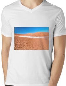 View of Deadvlei in early morning, Namibia Mens V-Neck T-Shirt