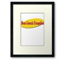 Neon Genesis Evangelion Seinfeld parody Framed Print
