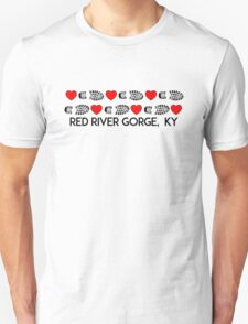 HIKING RED RIVER GORGE I LOVE TO HIKE HIKER HEARTS BOOTS KENTUCKY Unisex T-Shirt