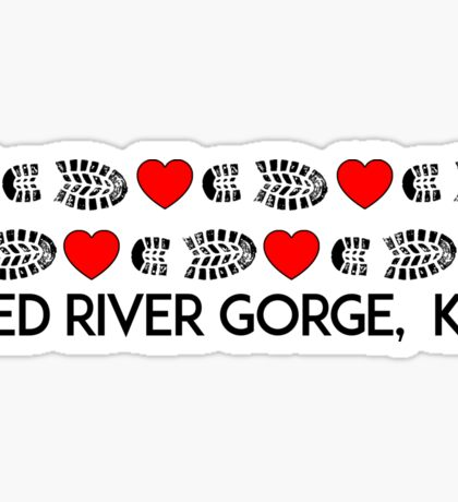 HIKING RED RIVER GORGE I LOVE TO HIKE HIKER HEARTS BOOTS KENTUCKY Sticker