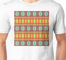 Orange Blue And Brown Pattern Unisex T-Shirt