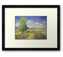 Claude Monet - The Summer Poppy Field Framed Print