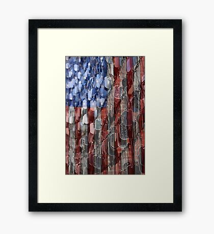 Never Forget American Sacrifice Framed Print
