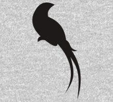 Black Paradise Bird Kids Tee