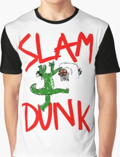 Slam Dunk Crocodile Graphic T-Shirt