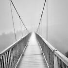 Foggy Moutain Bridge by Sonja Dover