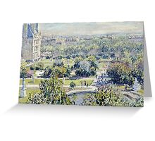 Claude Monet - View Of The Tuileries Gardens, Paris  Greeting Card