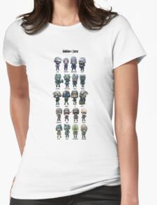Rainbow Six Siege Chibi's Womens Fitted T-Shirt