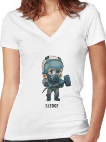 Sledge Chibi Women's Fitted V-Neck T-Shirt