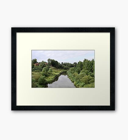 Rural river landscape Framed Print