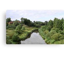 Rural river landscape Canvas Print