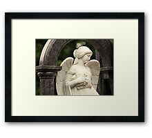 angel in the guise of a beautiful girl Framed Print