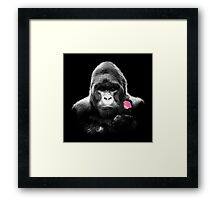 Gorilla Rose Framed Print
