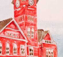 Samford Hall Auburn University Alabama Water Color/Acrylic Sticker