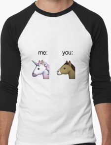 im a unicorn, you're a horse Men's Baseball ¾ T-Shirt
