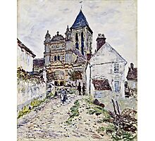 Claude Monet - The Church At Vetheuil 1878  Photographic Print