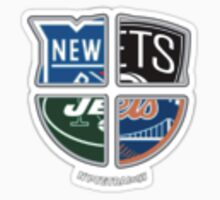 New York Pro Sports TETRAlogy! Mets, Jets, Rangers and Nets by KrisFire