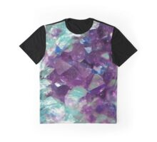 Painted Amethyst Crystals Graphic T-Shirt