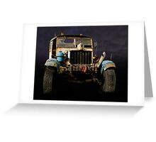 Comma Truck Greeting Card