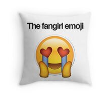 the fangirl emoji Throw Pillow