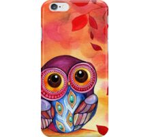 Owl's First Fall Leaf iPhone Case/Skin