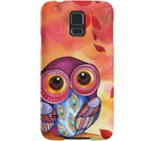 Owl's First Fall Leaf Samsung Galaxy Case/Skin