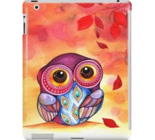 Owl's First Fall Leaf iPad Case/Skin