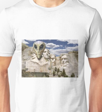 Alien Vacation - Mount Rushmore Unisex T-Shirt