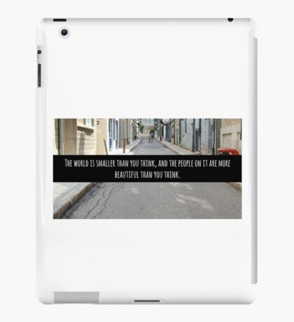 Small World Street Quote iPad Case/Skin