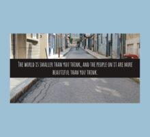 Small World Street Quote Kids Tee