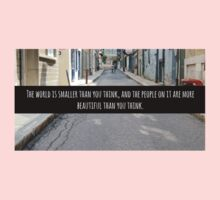 Small World Street Quote Kids Clothes
