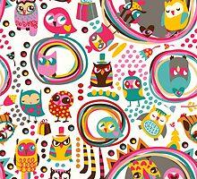 Cute Owls by kite-kit