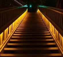 Lit Staircase by MJRobertson
