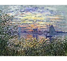 Claude Monet - Marine View With A Sunset 1875  Photographic Print