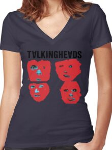 Talking Heads - Remain in Light Women's Fitted V-Neck T-Shirt