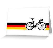 Bike Stripes German National Road Race Greeting Card
