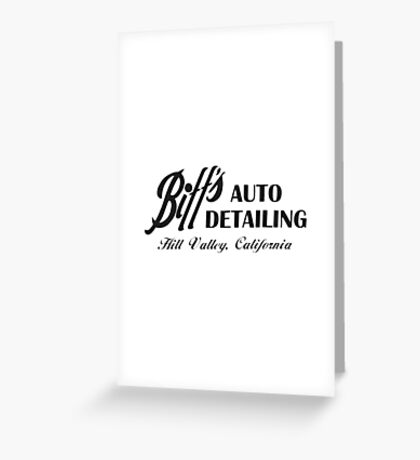 Biff's Auto Detailing Greeting Card