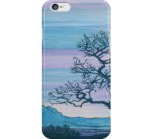 Tree - purple - blue  iPhone Case/Skin