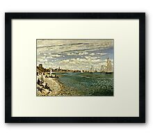Claude Monet - Regatta At Sainte-Adresse 1867  Framed Print