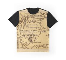 Map Of Newfoundland 1625 Graphic T-Shirt