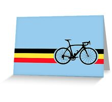 Bike Stripes Belgian National Road Race Greeting Card