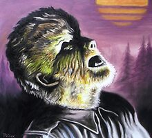 Lon Chaney as The Wolfman 1941 by tonypatrick