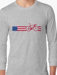 Bike Stripes USA v2 Long Sleeve T-Shirt